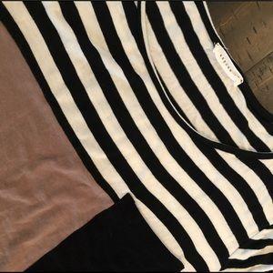 Reborn J Striped Color Black Tunic Large